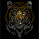 Hot sale custom tiger rhinestone transfer wholesale