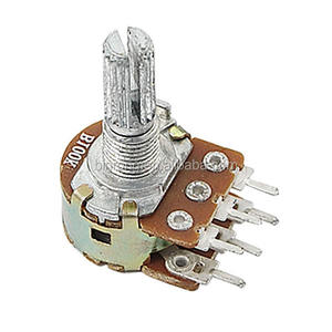 100K Ohm Top Aanpassing 6 Terminals Lineaire Dual Potentiometers