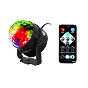 Full Color LED RGB DJ Club Disco KTV Party Magic Ball Crystal Effect Light Stage Lighting Sound Activated Dance Lamp Decoration