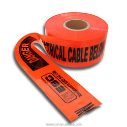 High Quality Underground Danger Electrical Cable Below Warning Tape