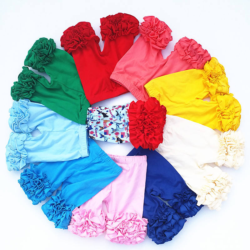 Toddler Girls Icing Shorts Candy Colors Legging Summer Girls Ruffle Shorts