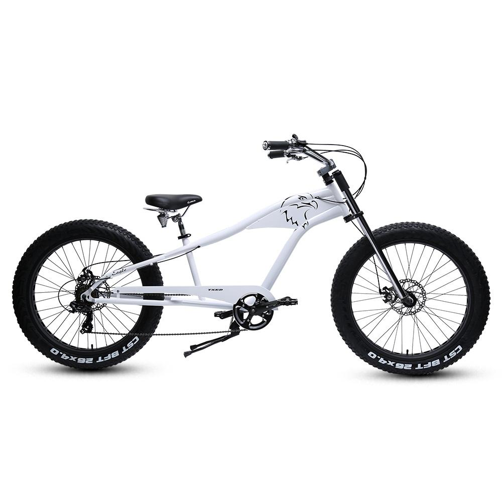 "26"" Fat Tire Fashionable Beach Cruiser Chopper Bike Bicycle"