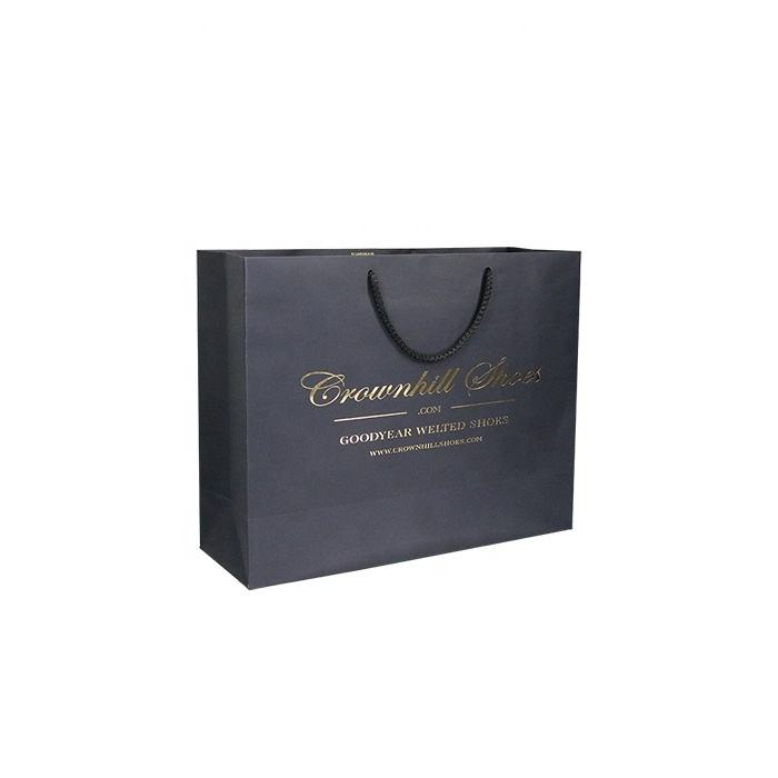 Custom Printed logo Shopping clothes shoes Paper Bag With handle