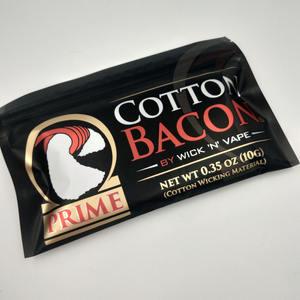 newest bacon gold prime cotton organic cotton 10g package for rba rda tank wick gold package bacon cotton