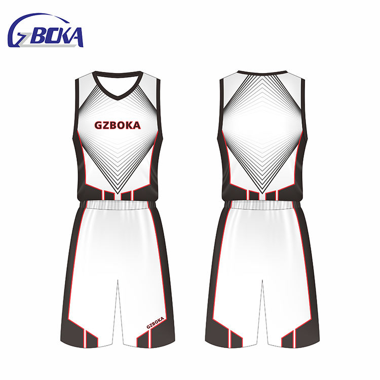 Good quality Factory basketball jersey throwback uniform design color white
