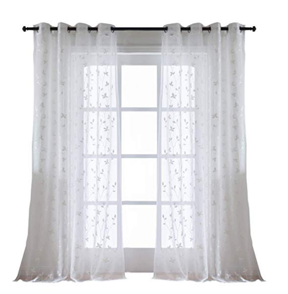 European jacquard style grommet sheer blackout home decor window curtain