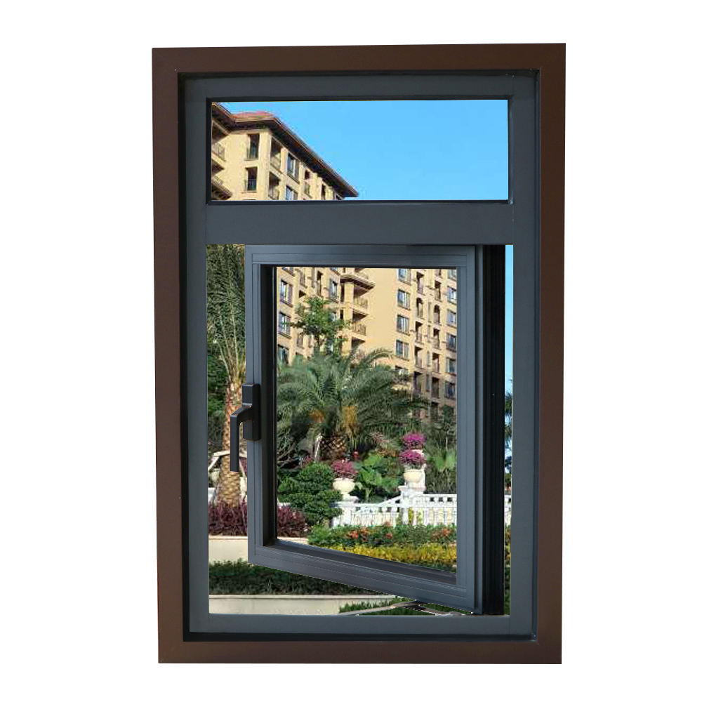 Upgraded type elegance french casement window aluminium for hotel
