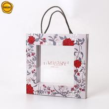 Sinicline High Quality Delicate Design PVC Window Customised Paper Bag For Women's Wallet