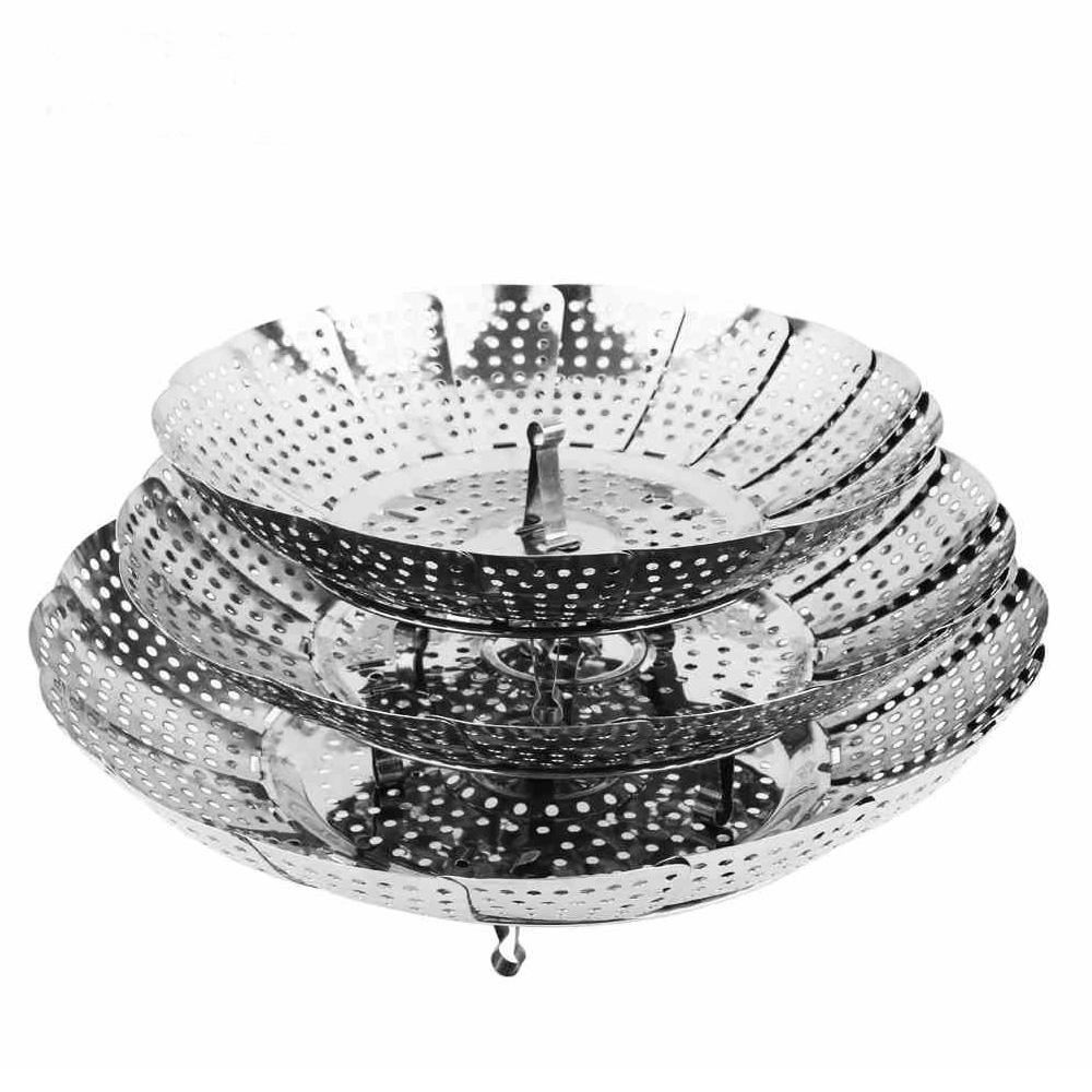 China supplier multi-used high quality vegetable steamer basket for steam food stainless steel collapsible steamer