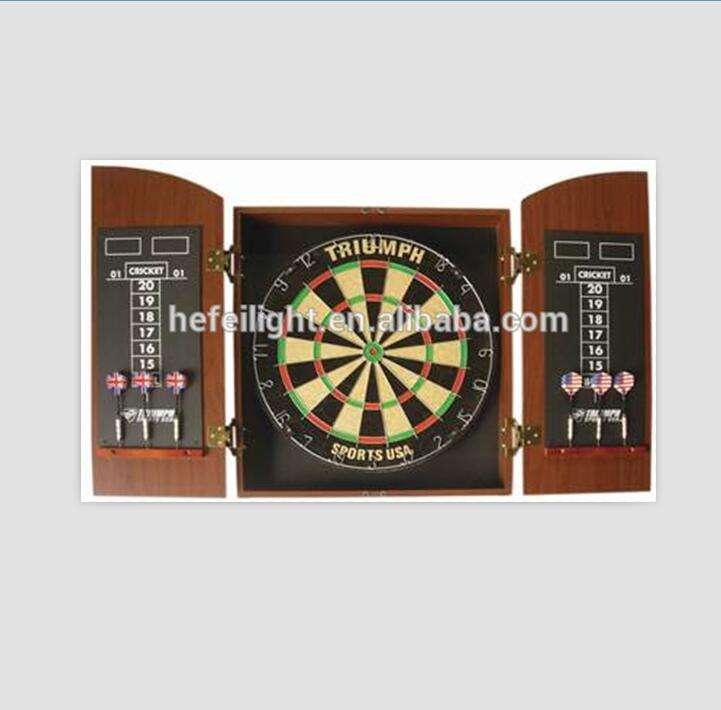 Entertainment dart board with MDF cabinet door
