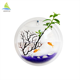 Customized size round Wall Hanging aquarium acrylic tank