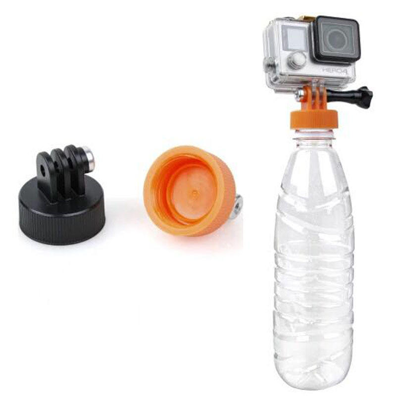 Kaliou 37mm Diameter Water Bottle Cap Connector Bottle Mount Adapter with Thumb Screw for Gopros 7 6 5 4 3 2 1