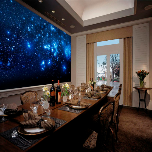 Bedroom Decor Blue Night Sky Universe Space Shinning Stars 3D Wall Murals