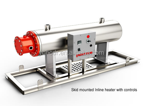 2kw 12kw Skid mounted Inline heater with controls