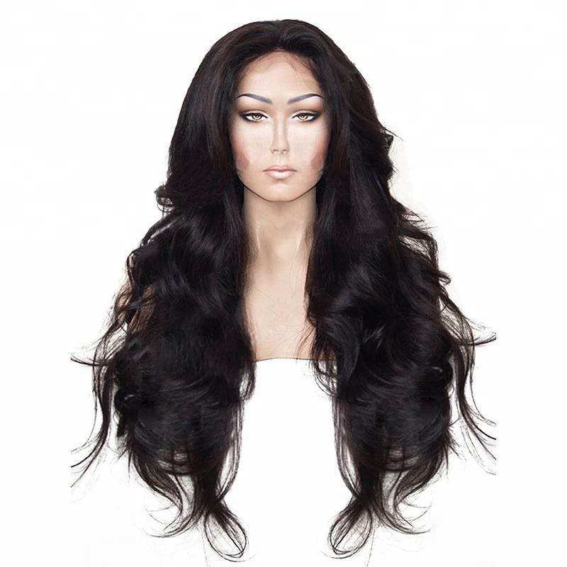 Swiss Lace [ Hair Synthetic ] Synthetic Hair Lace Wig Anogol Brazilian Hair Wigs Body Wave Black Synthetic Lace Front Wig