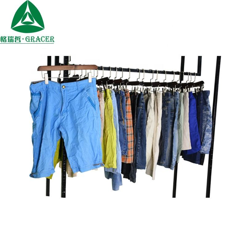 Factory Price Small Bales Second Hand Men Short Pants used clothing for man