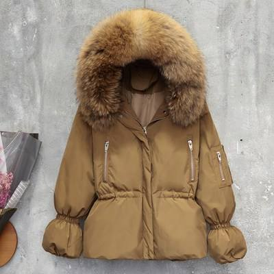 New Arrival Super Warm Jacket Real and Big Fox Fur Collar Down Coat Winter Fashion Outwear
