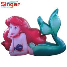 Roof decoration large inflatable mermaid,mermaid balloon,inflatable mermaid cartoon