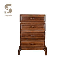 High quality wooden 4 drawers chest of drawer,luxury living room bedside cabinet table