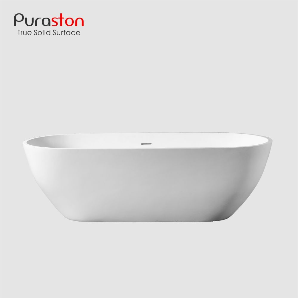 Puraston langlebige 1700mm kunststein solid surface freistehende badewanne mit optional baby <span class=keywords><strong>bad</strong></span> bombe