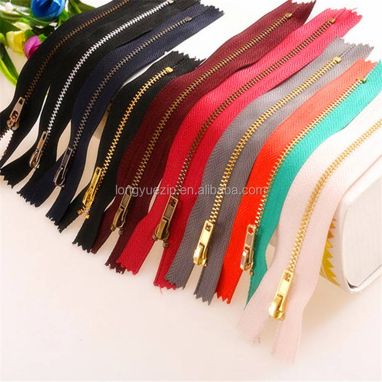Manufacturer supply close ended metal zippers
