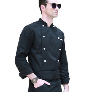 Chinese poly katoen restaurant black chef uniform