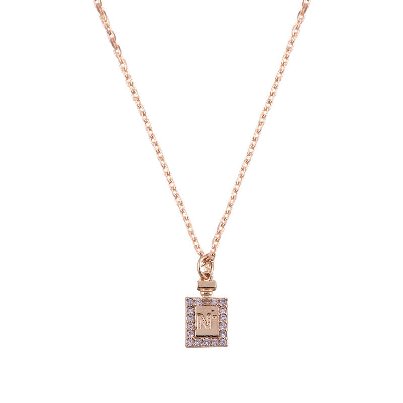 Jewelry necklace gold chain with diamond pendant nice packing pendant necklace