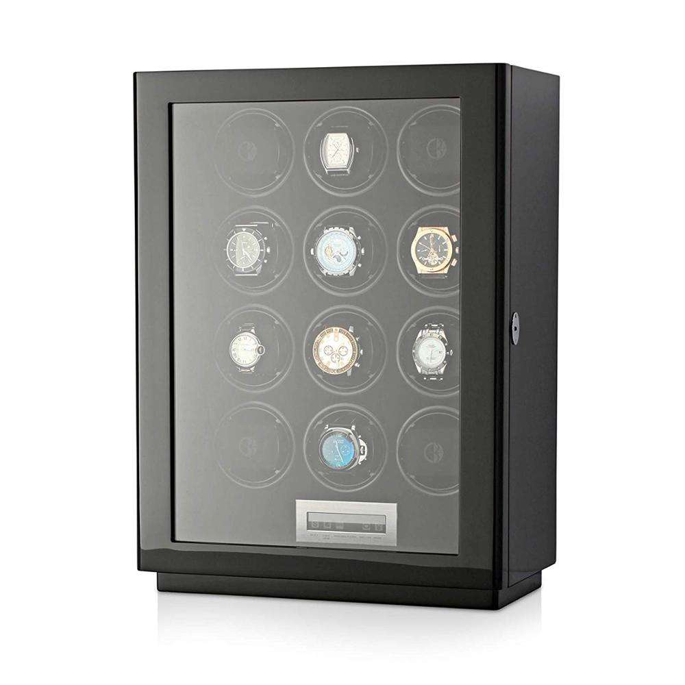 Watch Winder per 12 Orologi Automatici con Display Touchscreen LCD e Retroilluminazione A LED per Gli Uomini e di Orologi da Donna