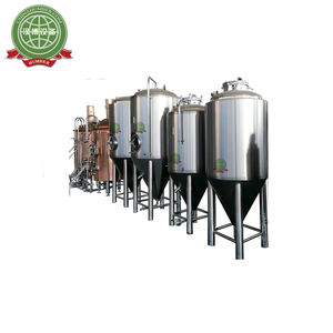 Steam/Electric/Direct Fire Heating Stainless Steel Brew Kettle Copper Conical Fermenter 100 Liter Conical Fermenter