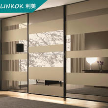 Customized latest wall mounted slide mirror wardrobes, fitted wardrobe door