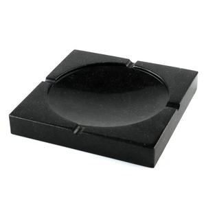 Wholesale Square Black Marble Ashtray Essential Bar Accessories Odorless Marble Ashtray Customized Size and Logo