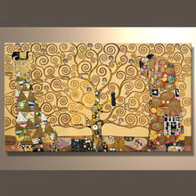 Handmade Famous Klimt painting for Reproduction Oil Arts