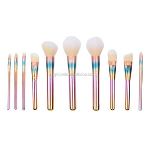 Cosmoprof Colorful Star Free Sample Powder Factory Makeup Brushes Set
