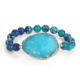 Fashion round natural imperial jasper stone beads pendant charm crystal druzy gemstone bracelets for women men