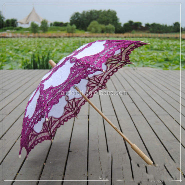 Latest Wedding Lace Parasol Umbrella