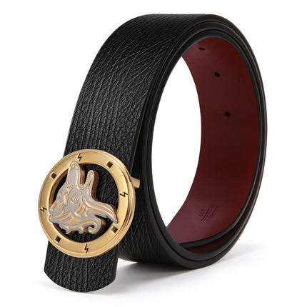 BLU FLUT Steel Smooth Buckle Leather Belts,Full Grain Luxury Black Leather Man Belt Blanks