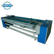 380V fabric measuring and rolling machine cutting edge vertical diagonal cloth for garment factory