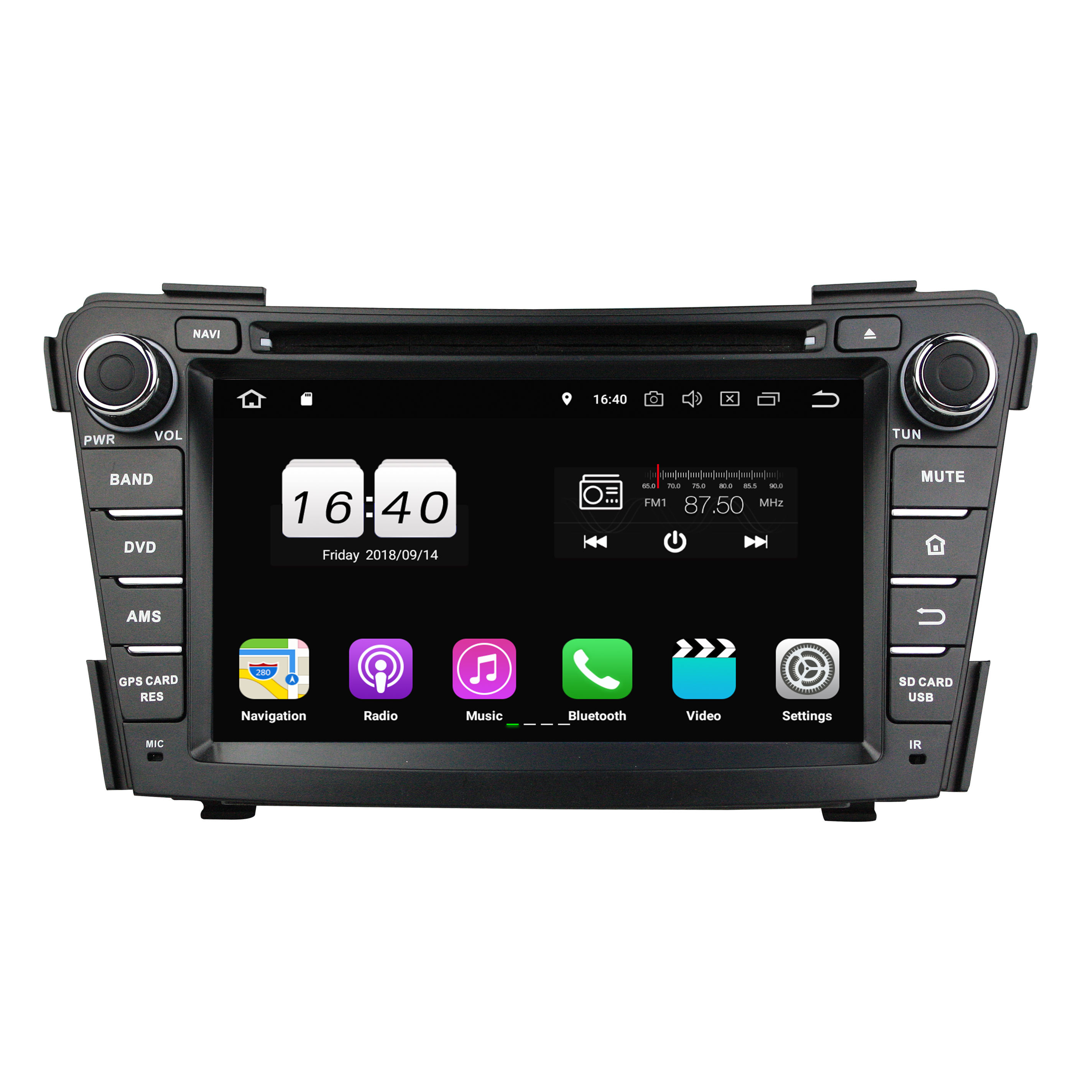 7 zoll Android 9.0 system Car GPS <span class=keywords><strong>DVD</strong></span> multimedia player ROM4 + 32G auto radio für HYUNDAI I40 2011-2014