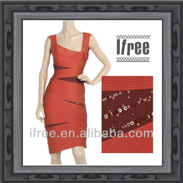 Cheap Sequins Red Carpet Dress Bandage Evening Celebrity Dress China