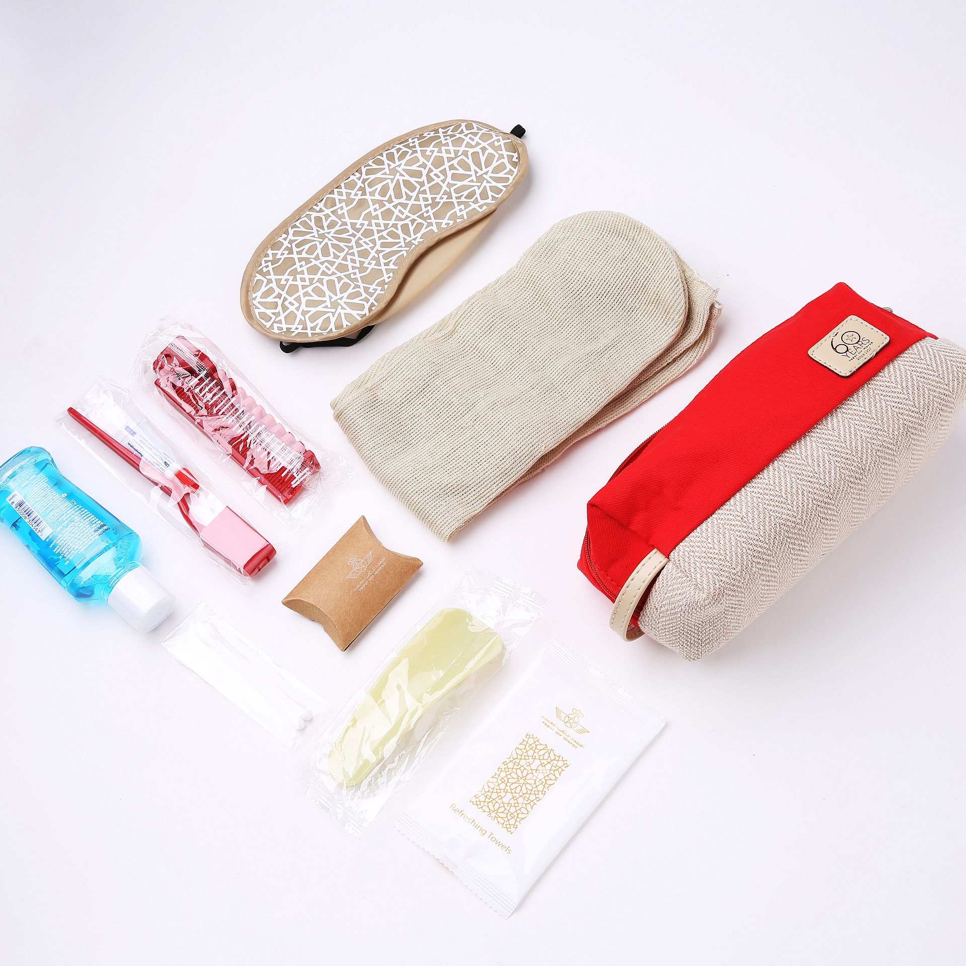 Disposable active office custom personal care travel kit set with logo for ladies