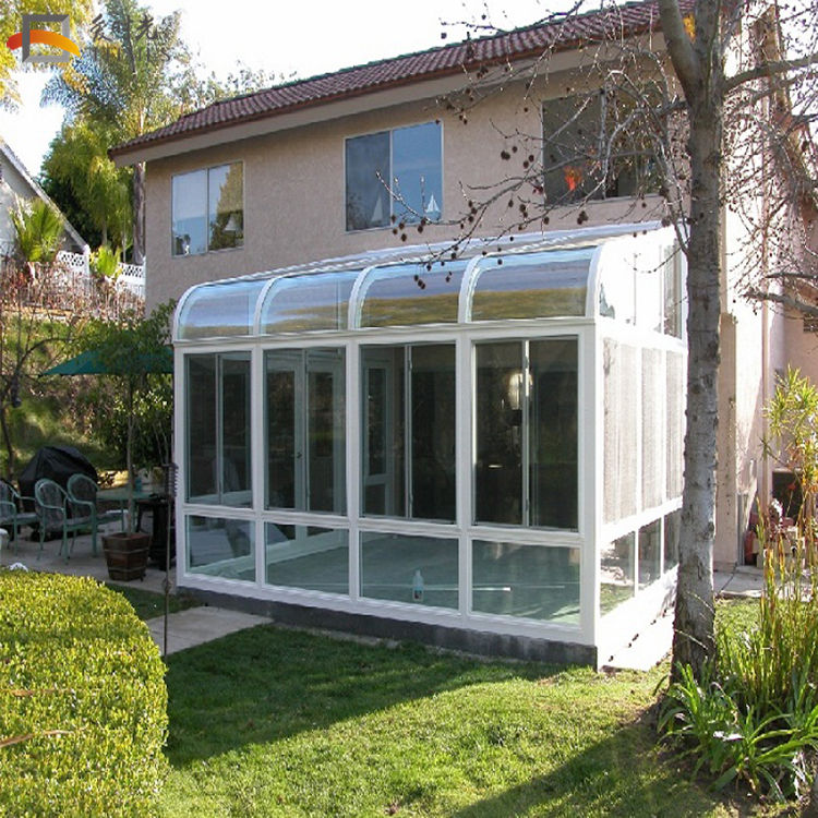 China cheap custom 4 season sunroom kits tempered glass outdoor villa balcony sunroom lowes aluminum sunroom