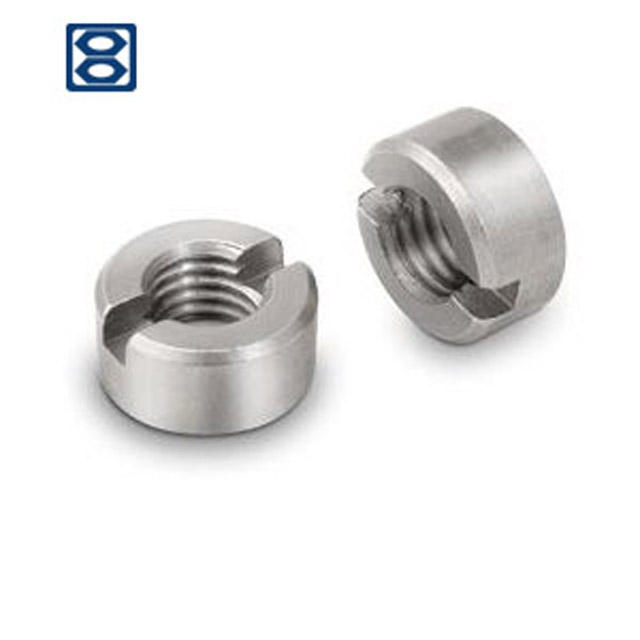 1-8 Steel 60 pcs Slotted Hex Nuts Zinc Plated Finished Nut Pattern