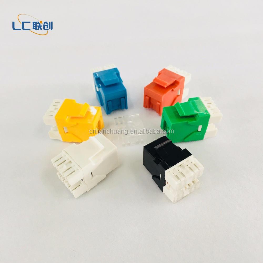 12 Pcs Cat6 RJ45 Ethernet LAN Network Keystone Jack 180° 110 Punch Down Yellow