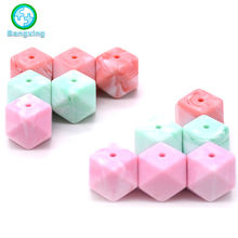 Wholesale New Colors Silicon Hexagon Food Grade Baby Teething Silicone Beads