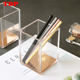 Custom Office Stationery Pencil organizer stand magnetic plastic table desk calendar quadrate acrylic single pen holder