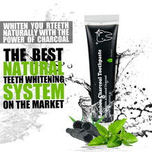 Polishes Teeth Mint Flavour 100% Naturally Derived Activated Charcoal Whitening Toothpaste