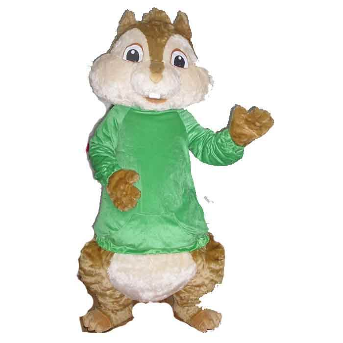 <span class=keywords><strong>Alvin</strong></span> Chipmunk del costume della mascotte animale per commerciale