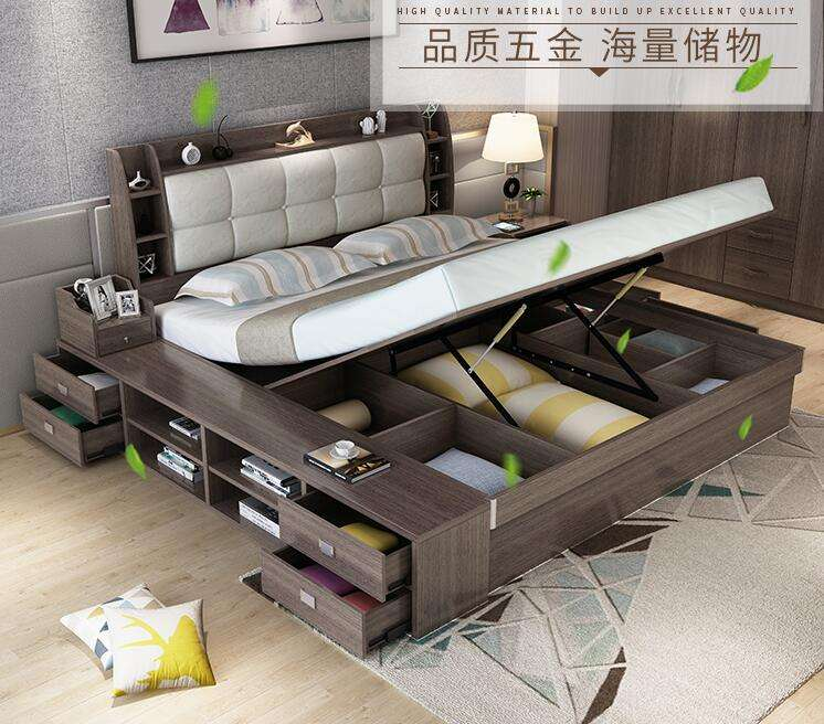 china best selling multifunction modern design double bed