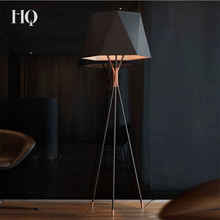 Modern luxury black / white metal fabric shadelamp large floor lamp to add atmosphere to the living room