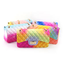 2020 hot sale new style jelly bag cross body pvc silicone bag women handbag